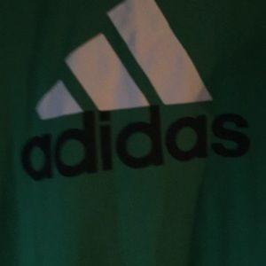 Adidas green t shirt sz l